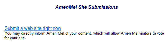 The submit a site menu option